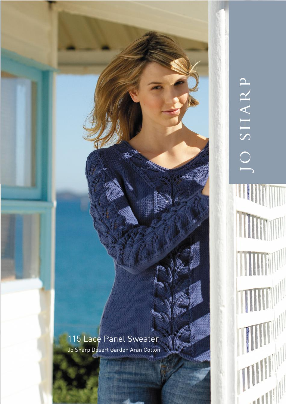 Jo Sharp Lace Panel Sweater - Pattern