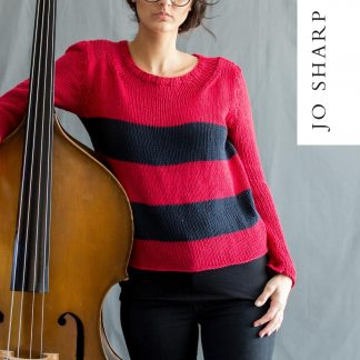 c3093eb43 Jo Sharp Three O apos Clock Sweater – Pattern – Kingfisher Yarn and ...